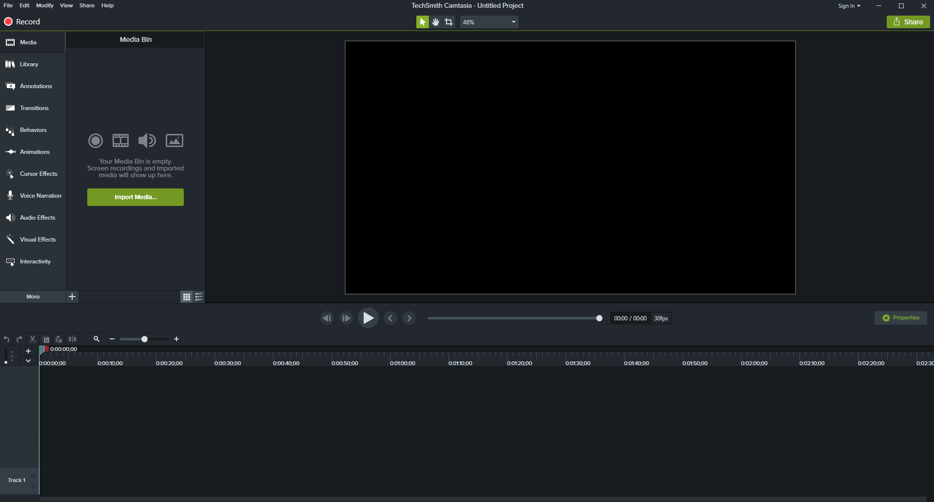 Screenshot der Screencast Software TechSmith Camtasia