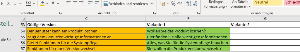Microcopy erstellen in Excel