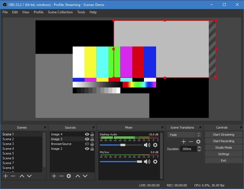 Screenshot der Screencast-Software OBS Studio