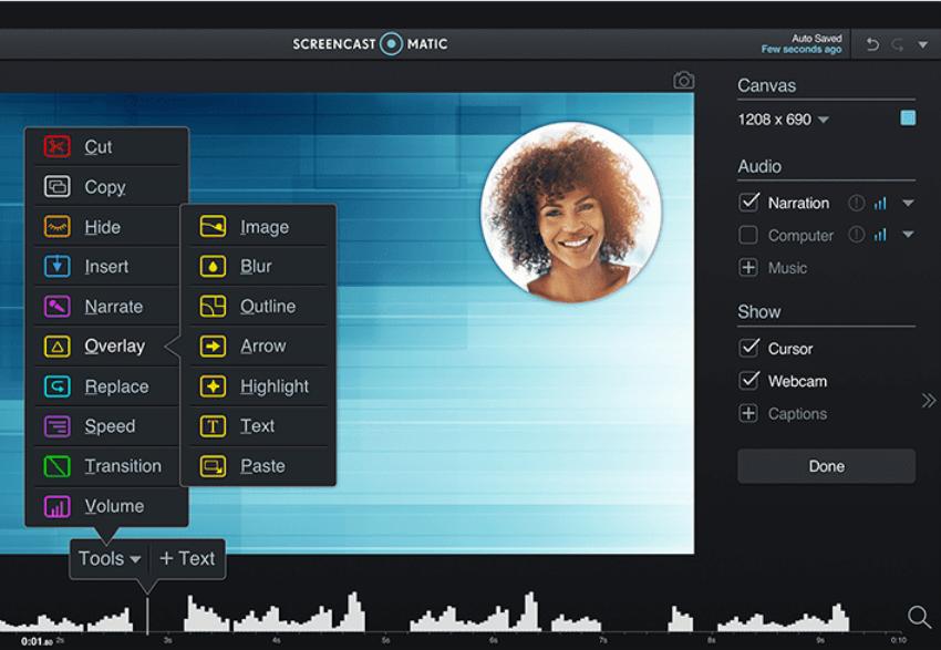 Screenshot der Software Screencast-o-matic
